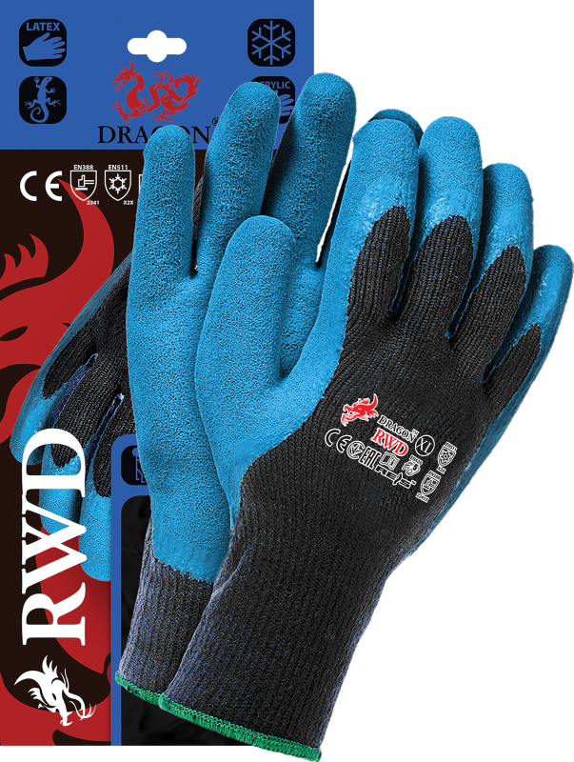 1 Paar Winterhandschuhe XXL mit Warmfutter RWD