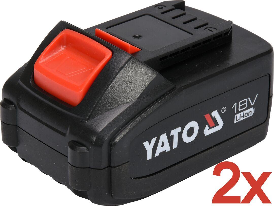 Profi 18 V Akkuschrauber von Yato mit 2 x 3 Ah. Akkus 2 Gang Getriebe