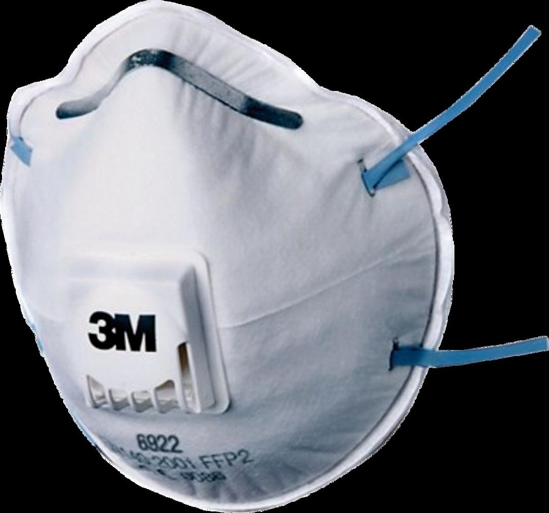 10x 3M Feinstaubfiltermaske P2 6922, FFP2 mit Cool Flow Ventil (EN 149:2001)