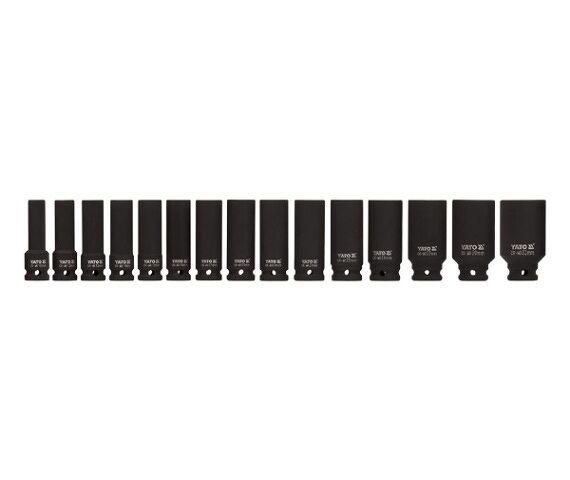 YATO Profi Kraft-Steckschlüsselsatz 1/2 Zoll 10 -32 mm 15 tlg