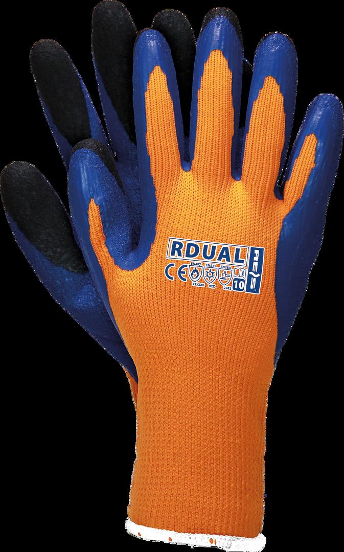 12 Paar Rdual Winter Arbeitshandschuhe Polyester Gummi Top Qualität Handschuhe Gr.10 Winter warm gefüttert