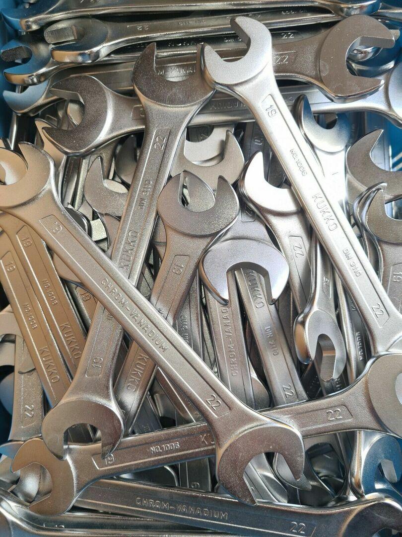 2 kg Werkzeug Gabel Maulschlüssel Restposten Doppel Ringschlüssel gekröpft Kukko